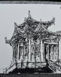 速写莆田南山广化寺